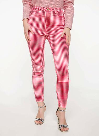 DeFacto Slim Fit Pantolon Kırmızı